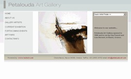 art gallery web design